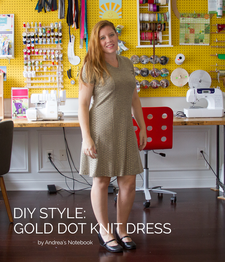 DIY STYLE: gold dot knit dress - LOVE!