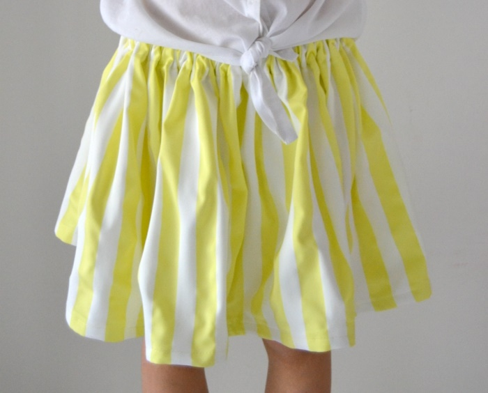 The Most Quick and Easy Girl's Skirt Tutorial