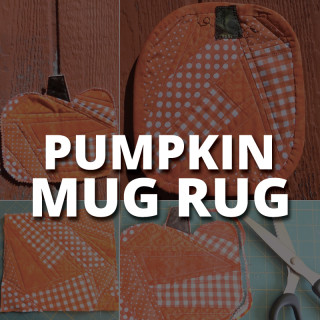 Fall Pumpkin Mug Rug Tutorial