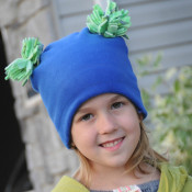 Pom Pom fleece hat pattern - FREE
