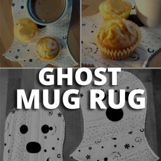 Ghost Mug Rug Tutorial