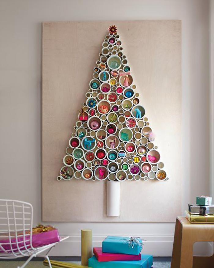 pvc pipe christmas tree art