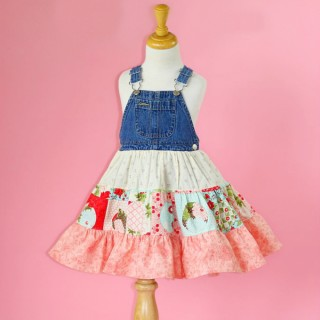 How to Make a Twirly Dress From Overalls