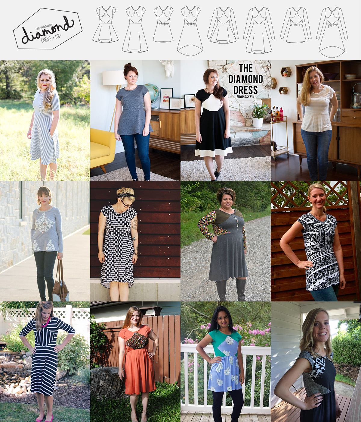 Unbiased Collection by Pattern Anthology   4 sewing patterns for Every Body