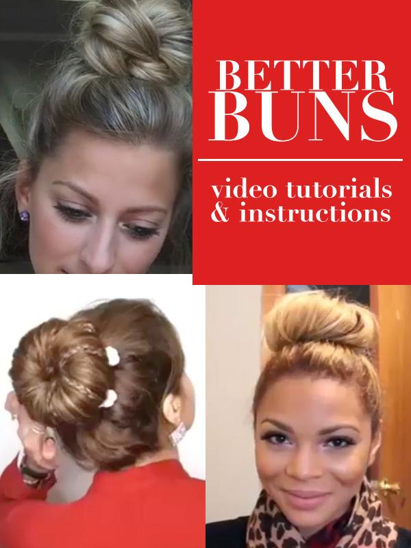 Better Hair Buns Tutorials