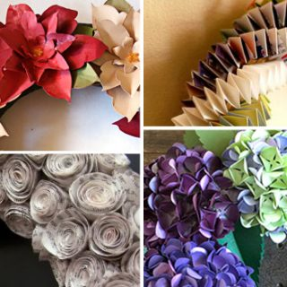 Gorgeous Paper Wreath Tutorials