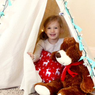 DIY Teepee for Christmas