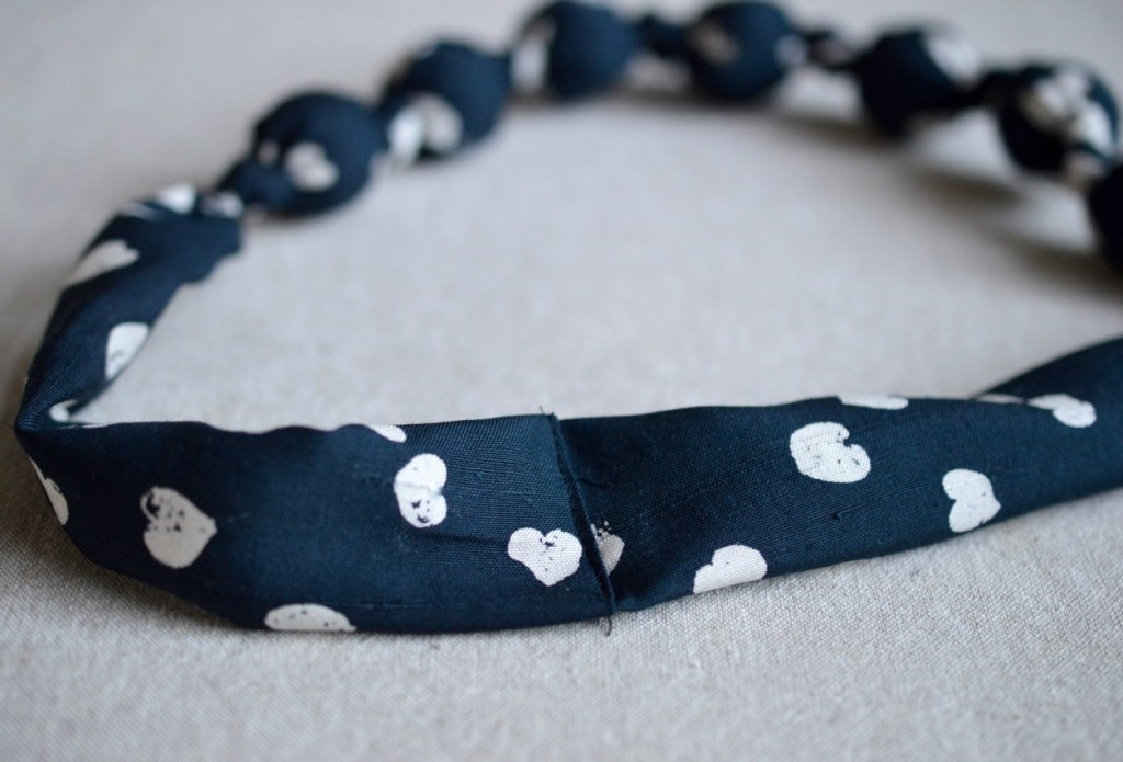 Fabric Necklace Tutorial