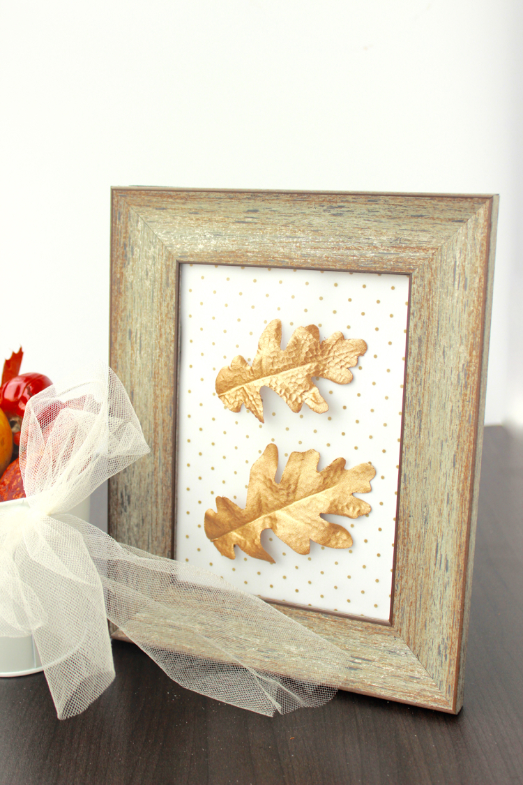 Diy gold leaf wall art : Gold leaf framed art