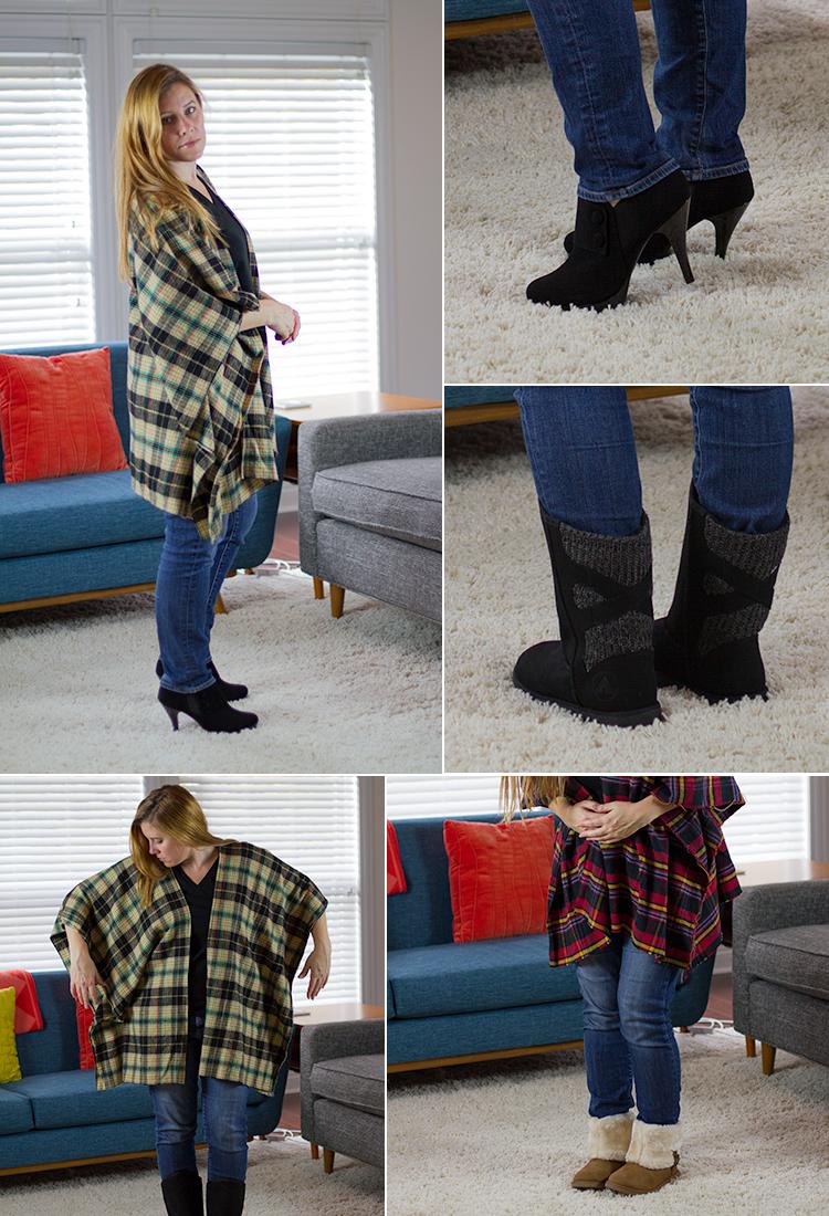 DIY Flannel Poncho Tutorial