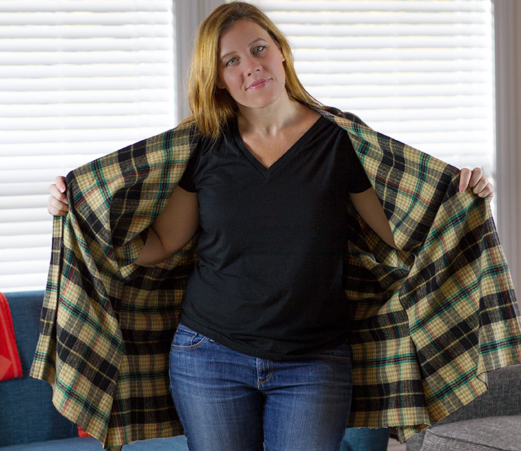 DIY Flannel Poncho Tutorial