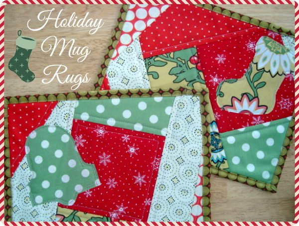 Quilt as You Go Holiday Mug Rugs
