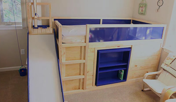 Ikea hack bed  Ikea Kids Bed Hack With Secret Room