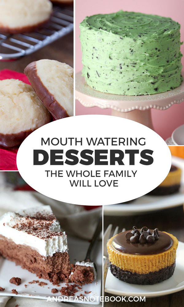 Mouth watering desserts you'll want to make!