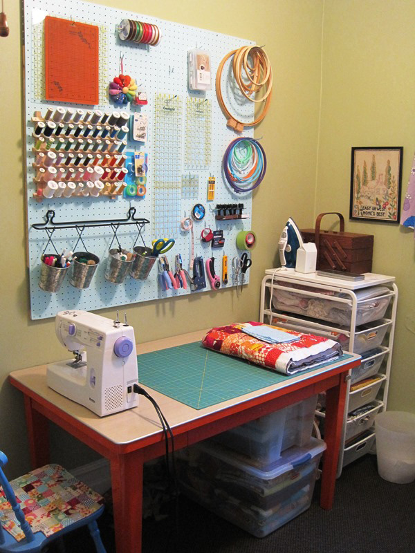 Highly functional sewing space
