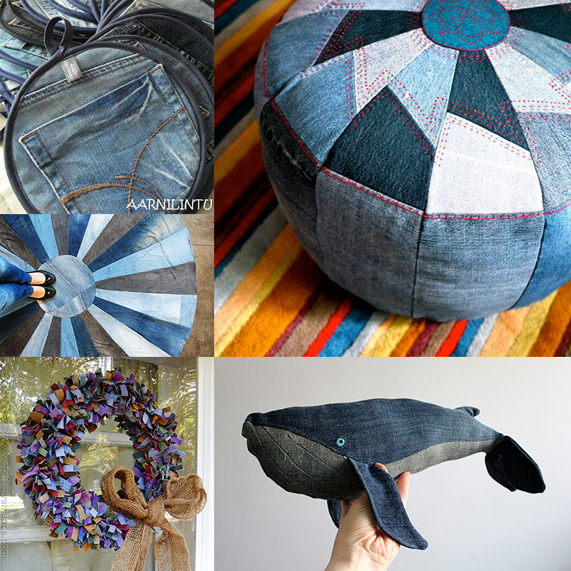 10 modern ish denim upcycle ideas - How to reuse old clothes well tailored ideas ...