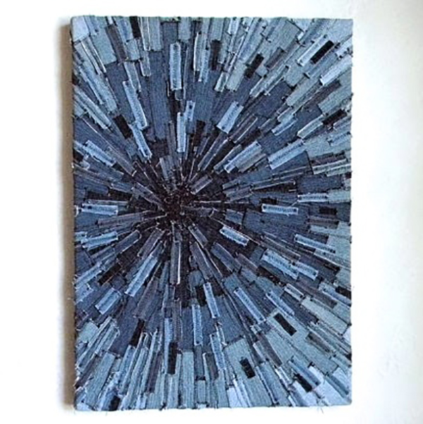 Recycled Denim Art
