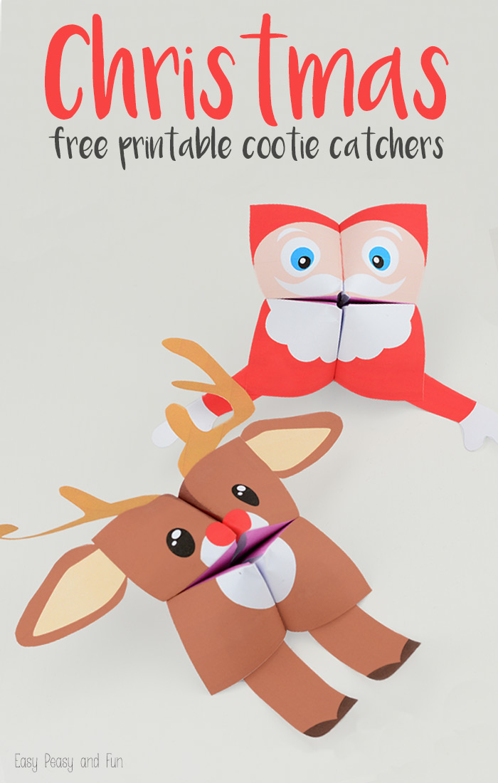 FREE PRINTABLE Christmas fortune tellers