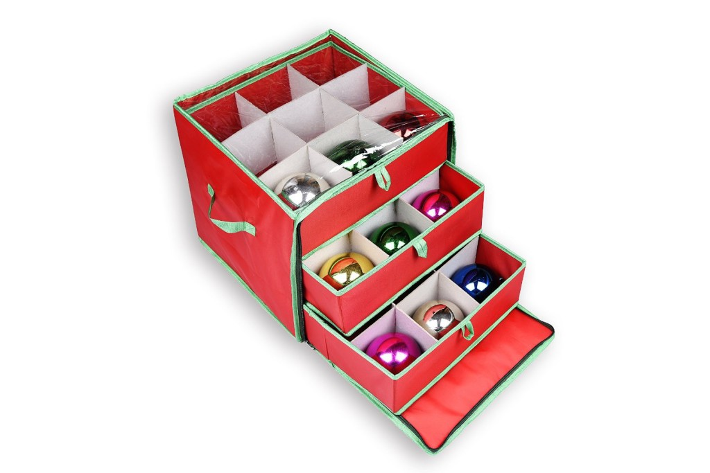 Storage Boxes For Christmas Decorations Ornament Storage Box With