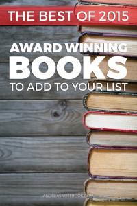 Award Winning Books from 2015 - must read!