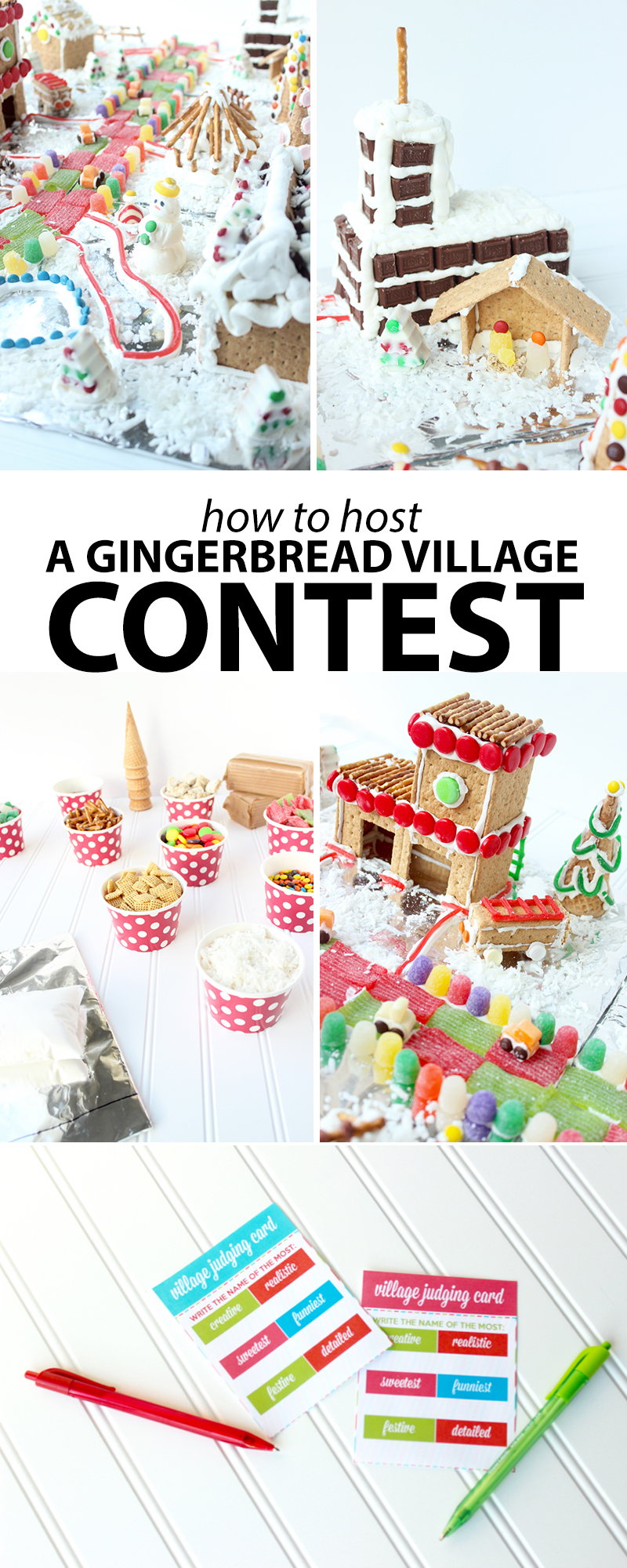 How to Host A Gingerbread Village Contest - FREE Printables - AndreasNotebook.com