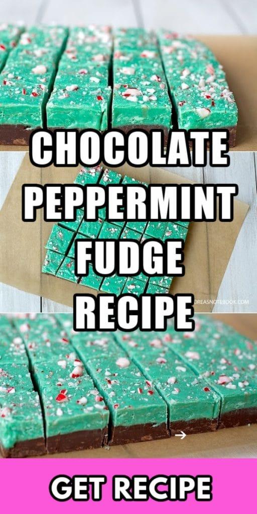 chocolate peppermint fudge candy cane parchment paper