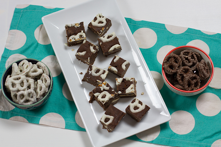 5 Minute White Chocolate Covered Pretzel Fudge Recipe