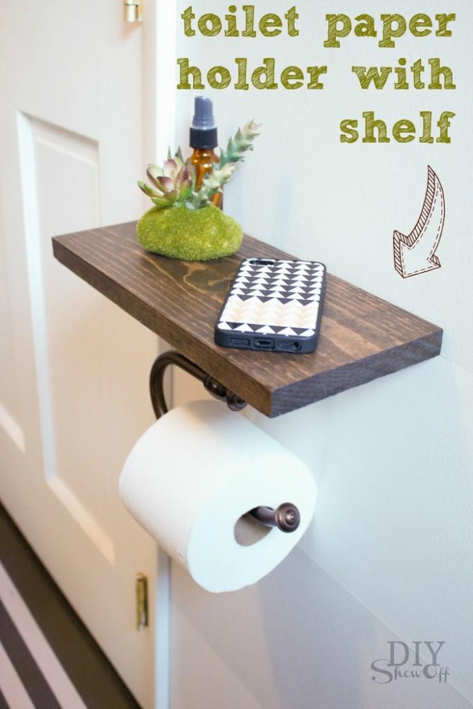 DIY toilet paper shelf