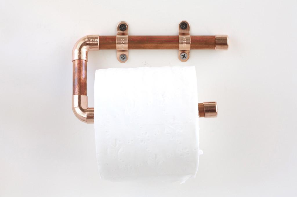 copper toilet paper holder tutorial
