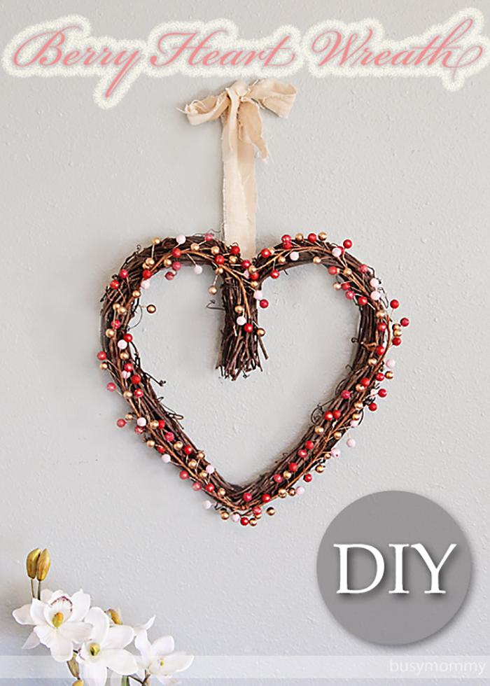 Berry Heart Wreath Tutorial