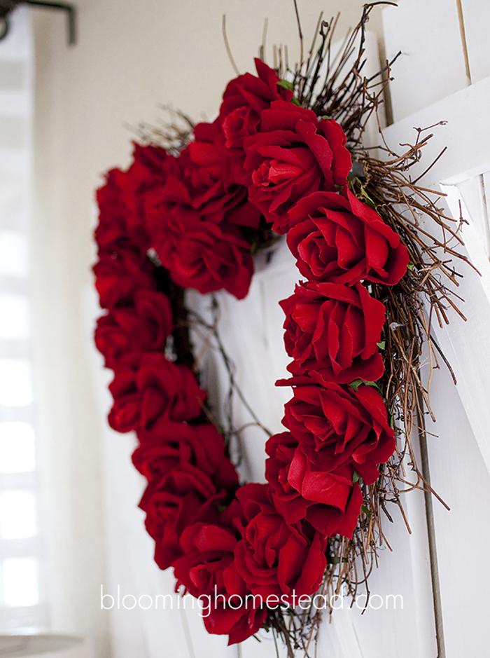 Faux Rose Wreath Tutorial