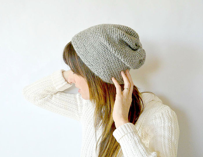 Trinity Stitch Knit Hat Pattern : Modern Crochet Hats For Women