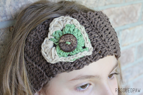 Crochet Heart Earwarmer Tutorial