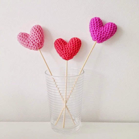 crochet heart tutorials
