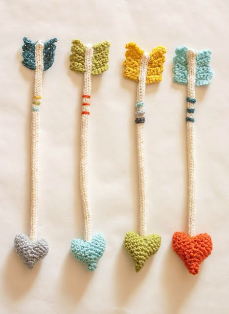 crochet heart arrows tutorial