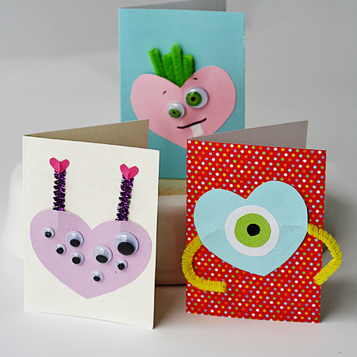 Homemade Monster Valentine Cards