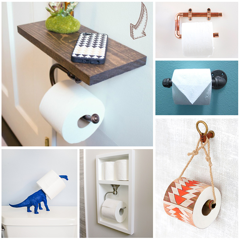 Diy toilet paper holders to make for your home Kids toilet paper holder