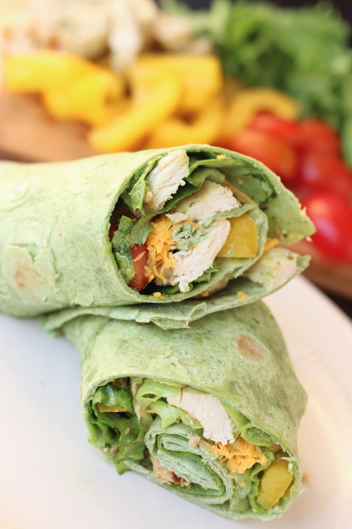 Pesto Chicken Wrap