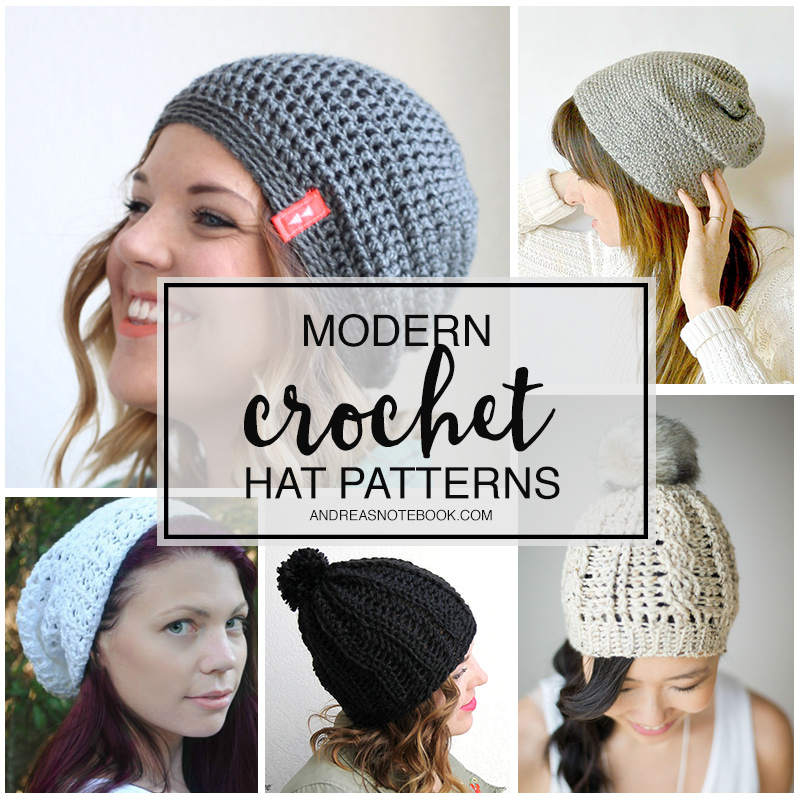 modern crochet hats for women