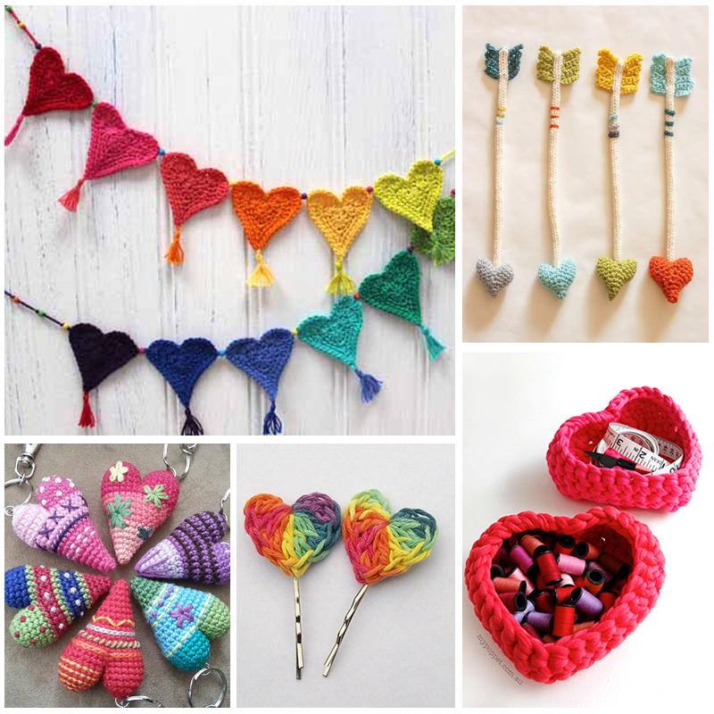 Heart Shaped Crochet Projects