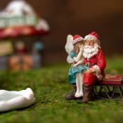 Make an adorable indoor Christmas village fairy garden