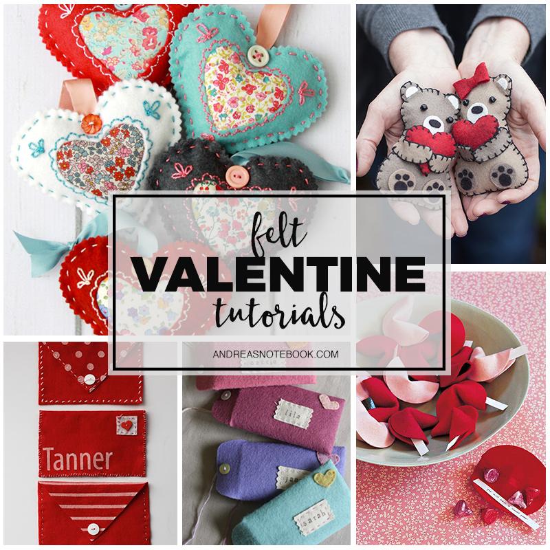 Felt Valentine Tutorials