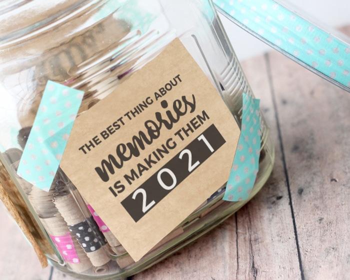memory jar 2021 kraft paper washi tape
