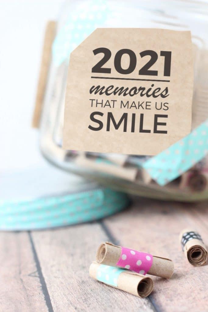 memory jar 2021 free printable washi tape kraft paper glass jar lid aqua pink