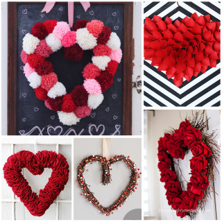 DIY Heart Wreath Tutorials