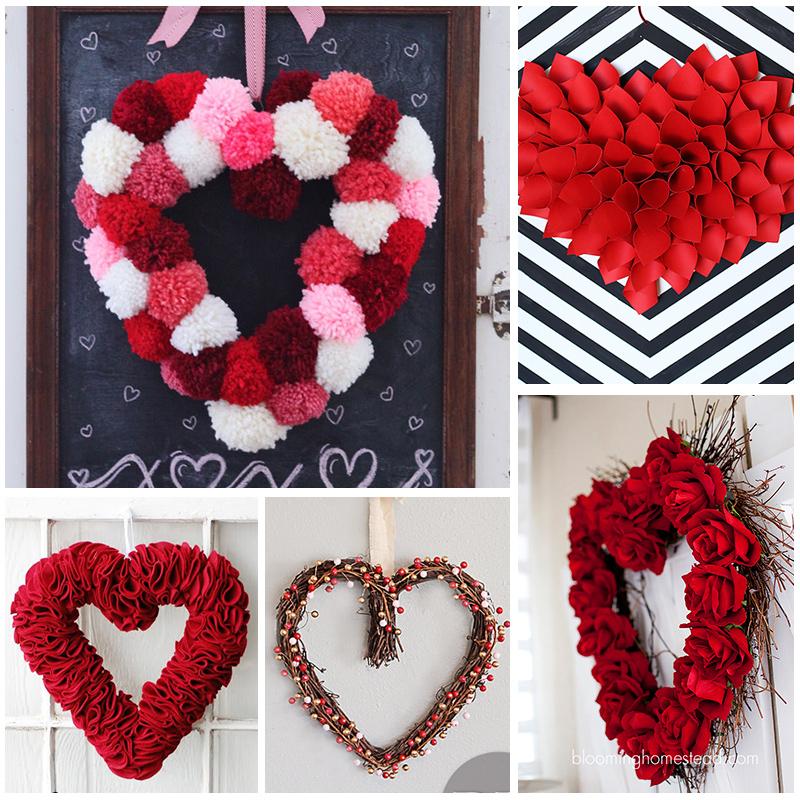 Valentine Heart Wreath Tutorials