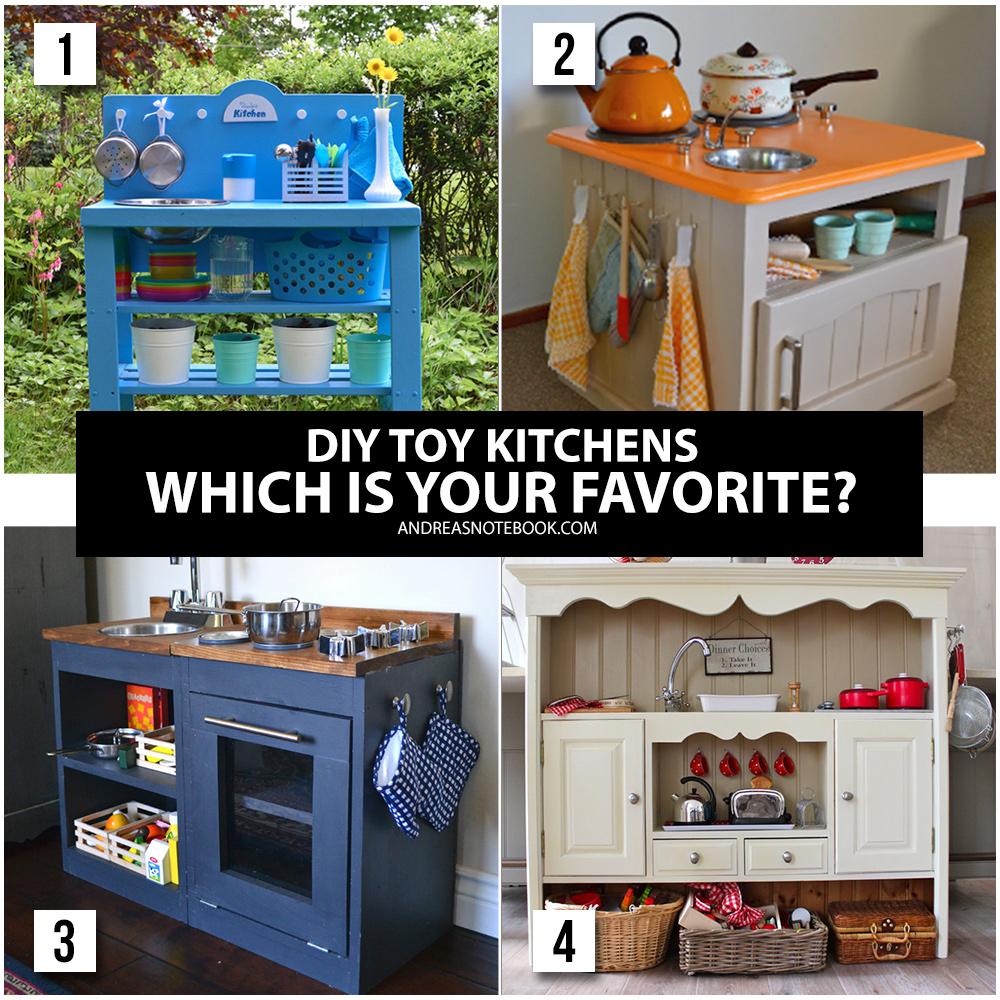 Adorable DIY toy kitchen tutorials