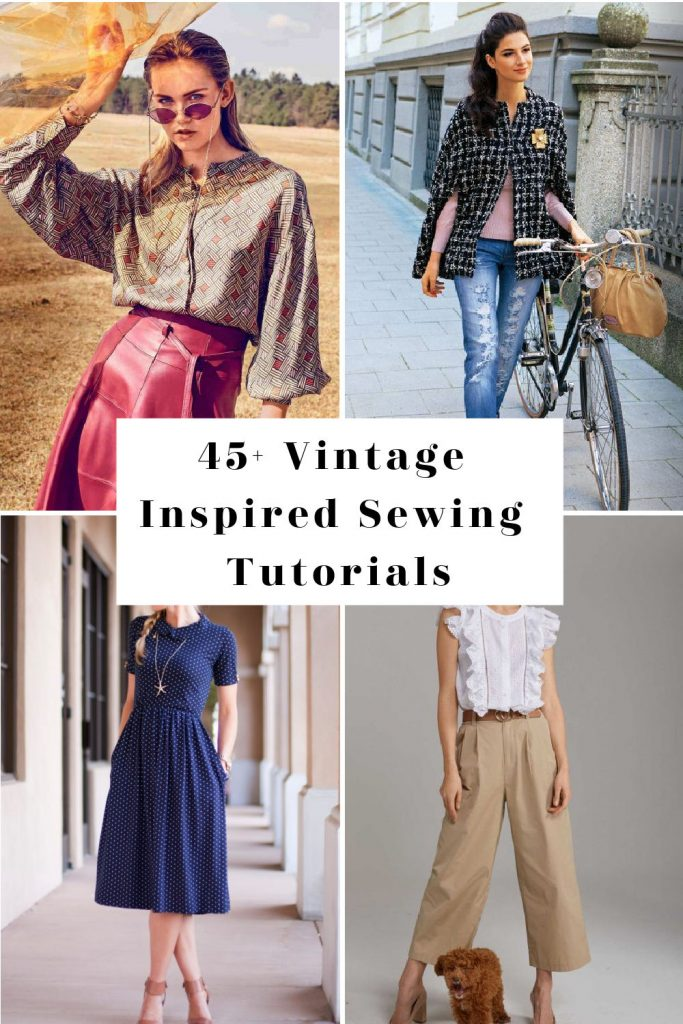 vintage sewing patterns and tutorials