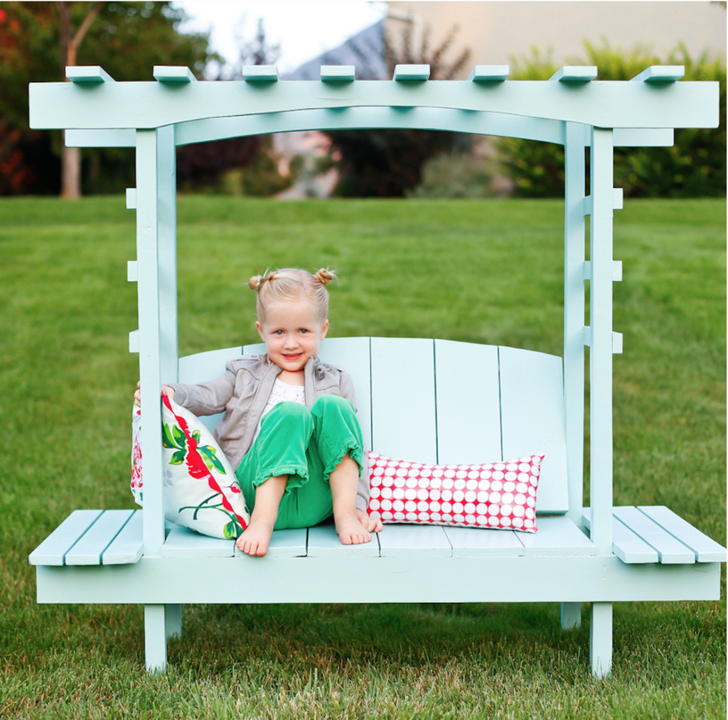 Build a child's arbor bench