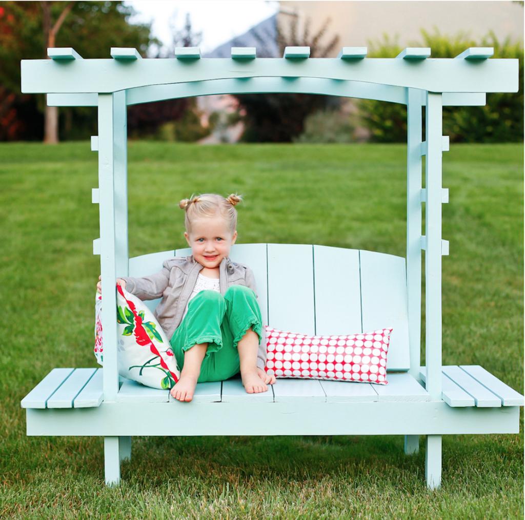 Build a child's arbor bench